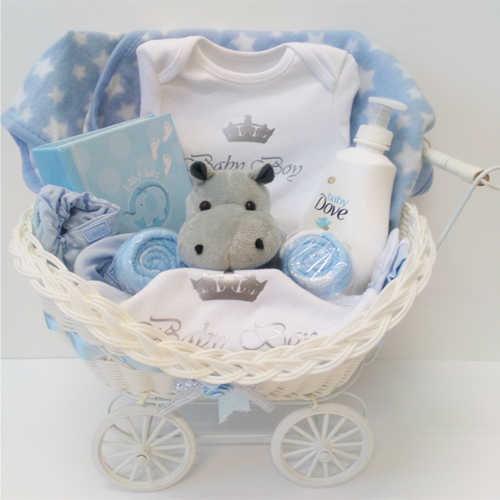 pram shaped gift baskets