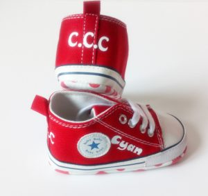 Personalised-converse-style-shoes-Red