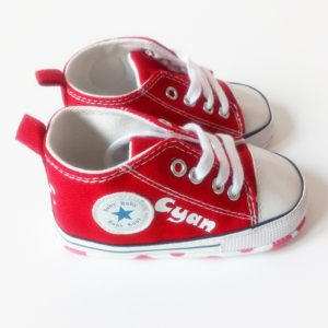 Personalised-converse-style-shoes-Red-side