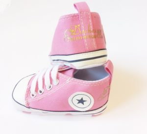 Personalised-pink-converse-style-shoes