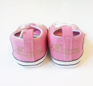 Personalised-pink-converse-style-shoes-back